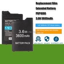 3.6v 3600mah PSP-1000 bateria de substituição para sony psp1000 playstation psp110 console portátil