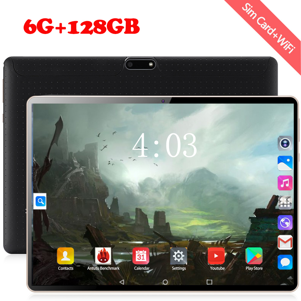 2020 New 10 Inch Tablet 3G 4G FDD LTE Octa Core 6GB RAM 128GB ROM 1280X800 IPS Android 8.0 OS GPS Tablets 10 10.1 For Kids Gift