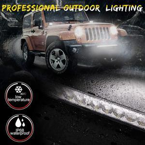 Image 5 - 20 pollici 10800LM Spot Inondazione Ha Condotto La Luce Bar con Universale License Plate Frame Staffa di Montaggio Kit per il Camion Auto ATV SUV 4X4 Jeep