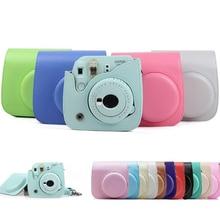 กล้องป้องกันสีสันสำหรับFujifilm Polaroid MINI 8 8 + 9 Instax PUหนังกล้องกระเป๋ากรณี