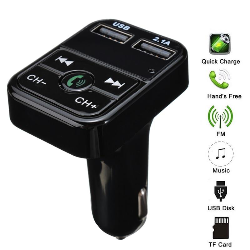 Wireless Bluetooth Car Radio KFZ Adapter FM Transmitter MP3 Player USB TF Card