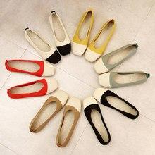 2021 dedo do pé apontado apartamentos senhoras sapatos planos ballet malha respirável mocasines de mujer gestante bailarinas mocassins outono de mujer