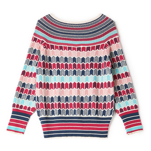 Image 2 - Runway Designer Wool Blend Warm Sweaters and Pullovers Women Winter Striped Female Knitted Jumper 2020 Christmas Clothing C 250