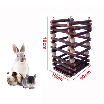 Wooden Hay Manger Grass Frame Pet Toy Trough Feeder for Rabbits Chinchilla Hamster Guinea Pigs 1
