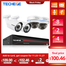 Techege 4CH 1080P H.265 POE NVR Video Âm Thanh Hệ Thống 2MP Trong Nhà Camera IP Ngoài Trời Chống Nước Email Cảnh Báo Giám Sát Video hệ Thống