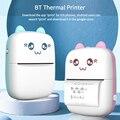 Портативный мини Термальность принтер по беспроводному устройству BT 203 точек/дюйм фото Label Memo неправильный вопрос печать с USB кабель imprimante П...