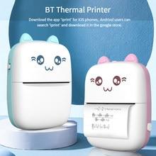Mini impressora térmica portátil sem fio bt 203dpi foto etiqueta memo pergunta errada impressão com cabo usb imprimante portátil
