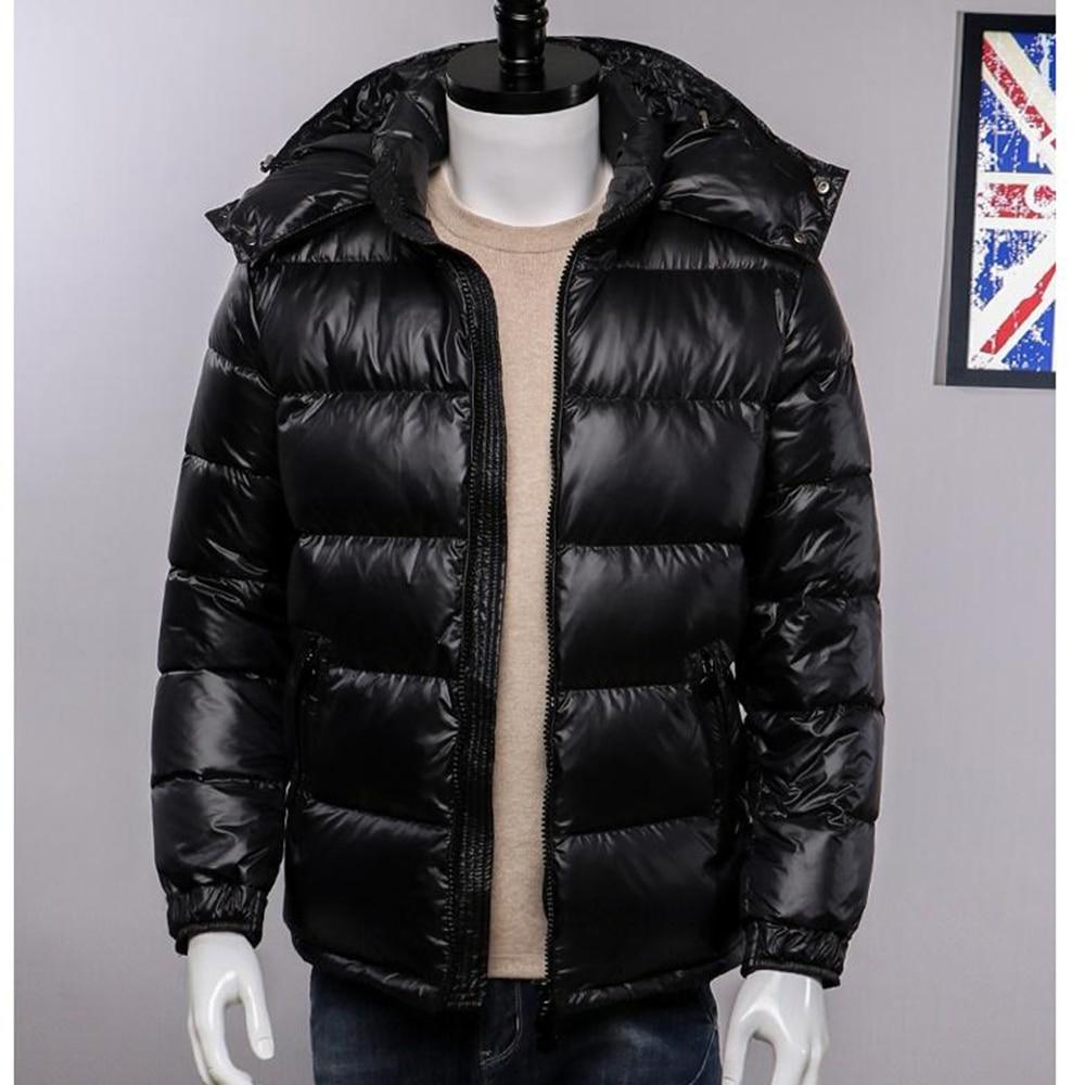 Fashion Thick   coat   Duck Feather streetwear men jacket Harajuku windbreaker waterproof padded Hooded outwear HIp hop
