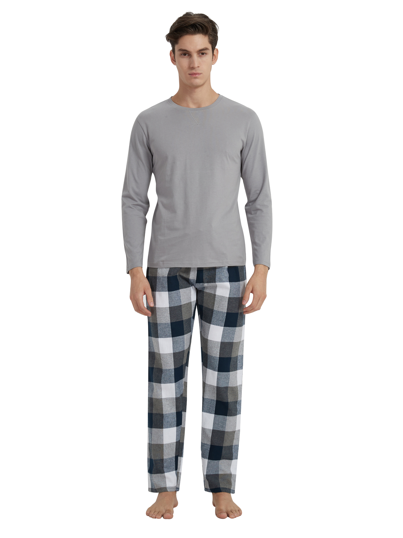 PimpamTex-Man Pajamas 100% Cotton Flannel Long Sleeve And Pants Long-