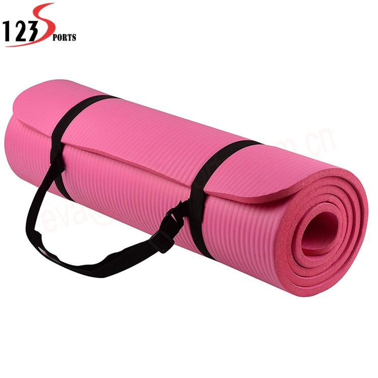 8~20mm Extra Thick High Density Anti Tear Exercise  balance NBR Yoga Mat with Carrying Strap|Car Covers| |  - title=