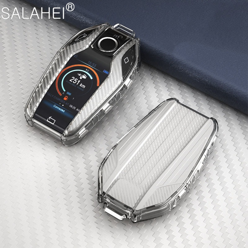 Мягкий TPU чехол для автомобиля полностью ключ чехол для BMW 5 7 серии G11 G12 G30 G31 G32 i8 I12 I15 G01 X3 G02 X4 G05 X5 G07 X7 светодиодный Дисплей ключ крышка