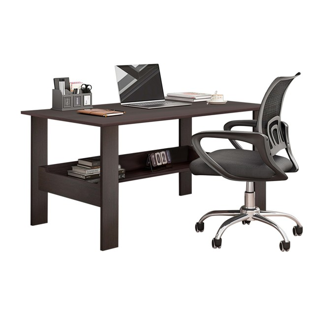 "40"" Computer Desk with Bookshelf 2"
