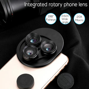 Smartphone Lens Camera-Kits Fish-Eye-Lenses Macro Wide-Angle Universal 3-In-1 HD