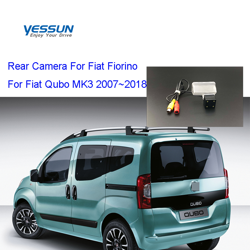 Yessun License Plate Rear View Camera 4 LED Night Vision 170 Degree HD For Fiat Fiorino For Fiat Qubo MK3 2007~2018