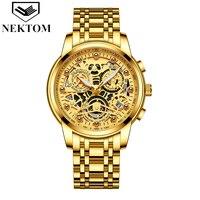 Men Quartz Automatic Watch Luxury Top Brand Date 3Bar Waterproof Stainless Steel Reloj Hombre Man Luminous Wristwatch