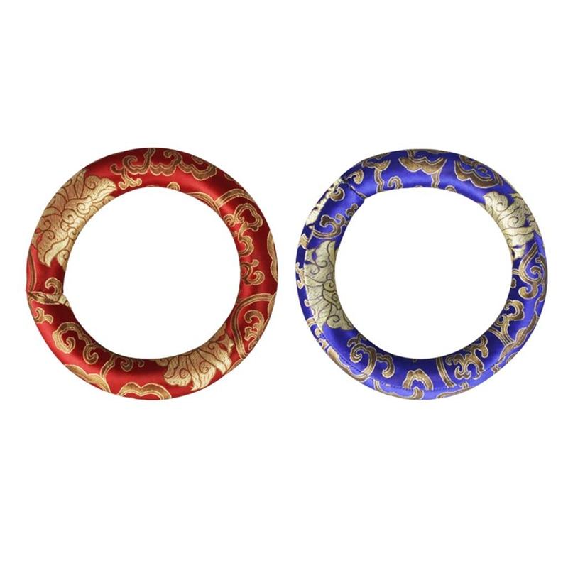 SEWS упаковка из 2 круглых подушек ручной работы для игры в тибетскую чашу пения 7