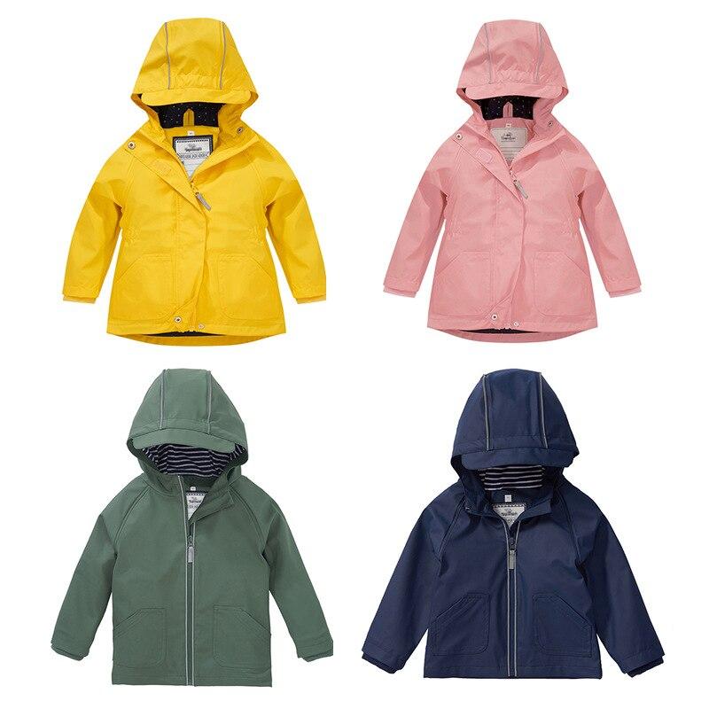 Водонепроницаемая куртка с капюшоном; Одежда для девочек; Теплое зимнее пальто из искусственной кожи для маленьких мальчиков; Ветрозащитны...