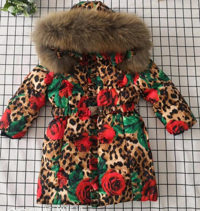 Зимняя куртка пуховик на рост от 95 до 145 см, 2019 г. Детская одежда пуховики для девочек Детская Длинная утепленная верхняя одежда Длинные курт