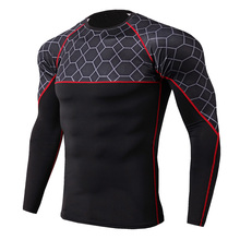 New Rashgard Compression Sport Shirt Men Long Sleeve Fitness Top Sportswear Gym Training T Shirt Bodybuilding Running Shirt Men new quick dry running shirt men bodybuilding sport t shirt long sleeve compression top gym t shirt men fitness tight rashgard