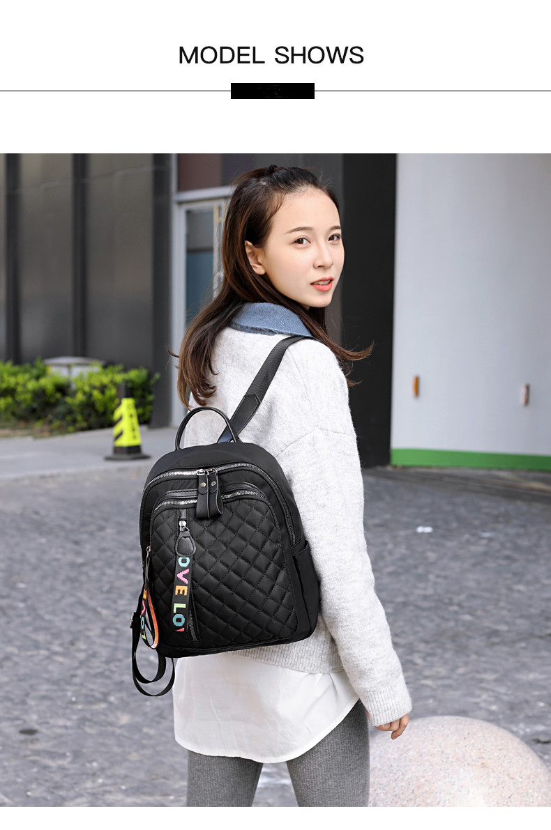 Haabce193a74a4124bb4f3d6a86633147Q - Vento Marea Travel Women Backpack  New Oxford Female Shoulder Bag Casual Black Rucksack Plaid School Bag For Teenage Girls