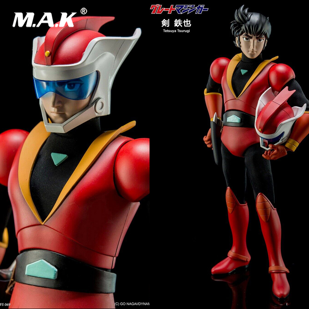 King Arts 22cm DFS069 Diecast Flexible Tetsuya Tsurugi Movable Action Figure Toy Model for Fans Gifts