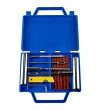 11 pçs kit de reparo de punctura do pneu do carro da motocicleta bicicleta pneu reparação kit de emergência resistente tubeless plug conjunto profissional portátil