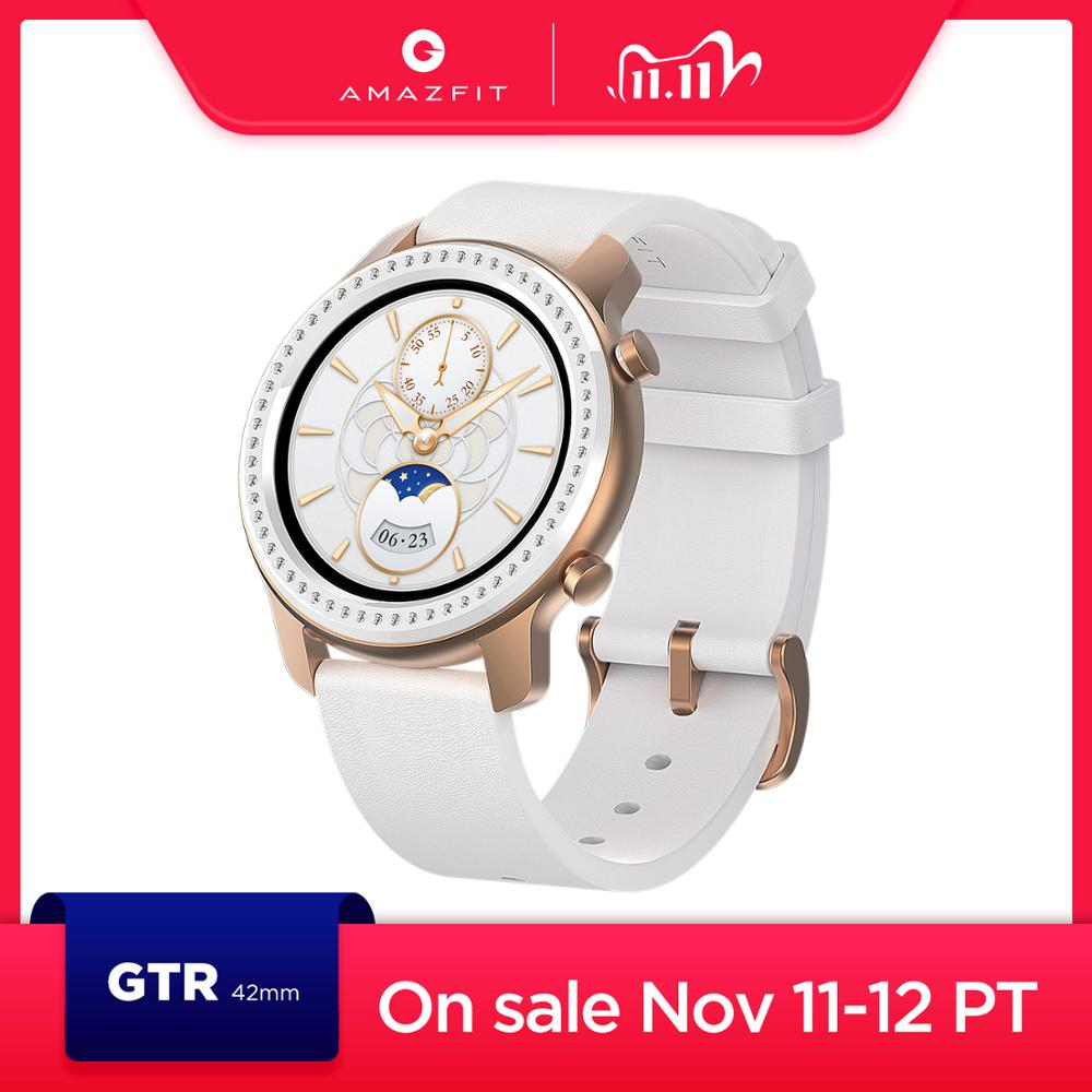 In Stock Glitter Edition New Amazfit GTR 42mm Smart Watch 5ATM women s watch12 Days Battery Music Control For Android IOS phone