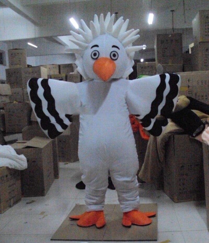 Nouveau Costume de mascotte blanc gros oiseau aigle costumes Cosplay partie jeu robe publicité vêtements intéressants personnage de dessin animé vêtements
