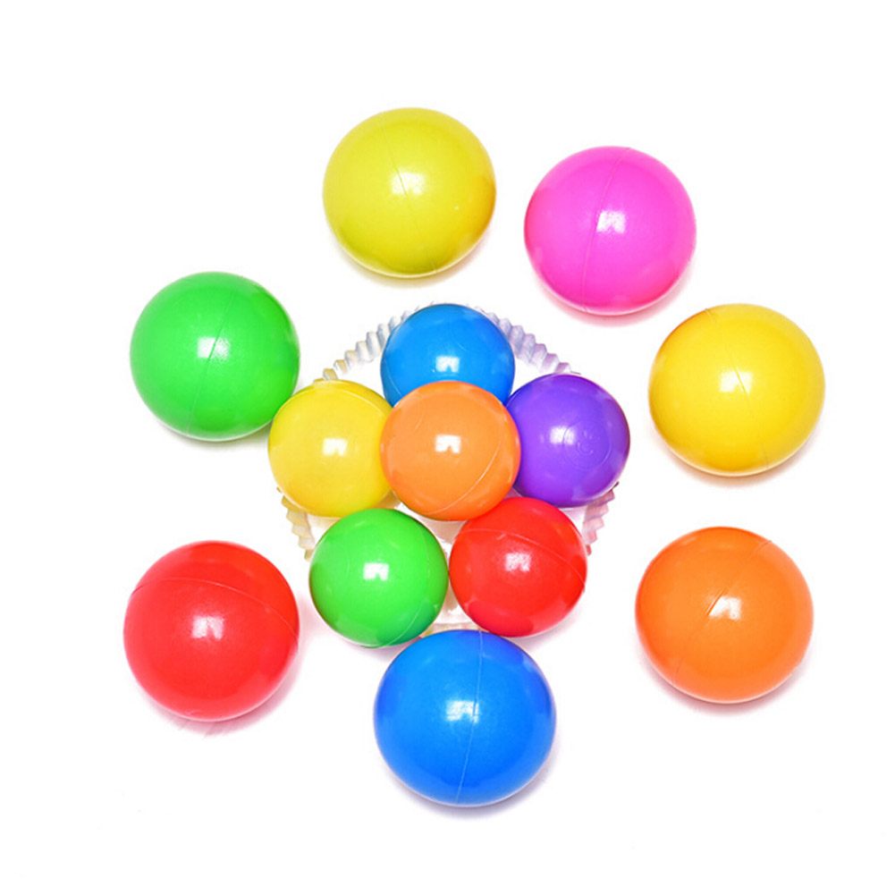 10pcs/set Eco-Friendly Colorful Soft Plastic Water Pool Ocean Wave Ball Baby Funny Toys Stress Air Ball Outdoor Fun Sports