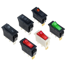 1PCS KCD3 Rocker Switch ON-OFF 2 Position Electrical equipment With Light Power Switch 16A 250VAC/ 20A 125VAC 30*13.5mm