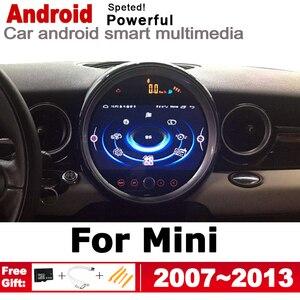 2 Din Автомобильный мультимедийный плеер Android авто радио для Mini Hatch One Cooper S D R56 2007 ~ 2013 DVD Автомагнитола Стерео gps навигация