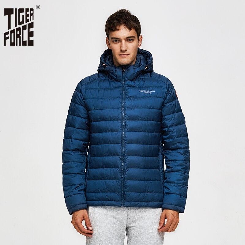 TIGER FORCE โพลีเอสเตอร์ 100% ฤดูใบไม้ผลิเสื้อผู้ชายผู้ชายหนาเสื้อแจ็คเก็ตชายเสื้อโค้ท Hooded Outerwear ผู้ชาย Parka-ใน เสื้อกันลม จาก เสื้อผ้าผู้ชาย บน   1