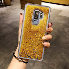Liquid Quicksand Case For Samsung Galaxy S9 S8 Plus S10E S10 S7 Edge iphone 11 Pro 6s 7 8 X XR XS MAX Cover TPU Soft Phone Cases(China)