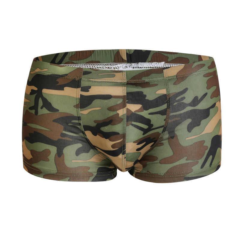 Calzoncillos Boxer Militares Para Hombre Ropa Interior Sexy De Talla Grande Transpirable A La Moda Ropa Interior De Camuflaje 2019 Calzoncillos Aliexpress