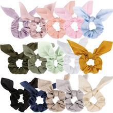 Hair Accessories 15 Pack Bow Scrunchies Silk Rabbit Bunny Ear Satin Elastic Ties Ponytail Holder Fashion