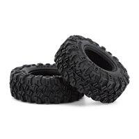 """INJORA 4PCS 1.0"""" All Terrain Soft Rubber Wheel Tires 52*17mm for 1/24 RC Crawler Car Axial SCX24 90081 AXI00001 Deadbolt 4"""