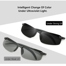 Anti-glare Car Night Vision Goggles Color-changing Polarized Sunglasses Fast-sensitivity Driver Goggles Driving Glasses car driver goggles anti uva polarized sun glasses driving night vision lens clip on sunglasses interior accessories