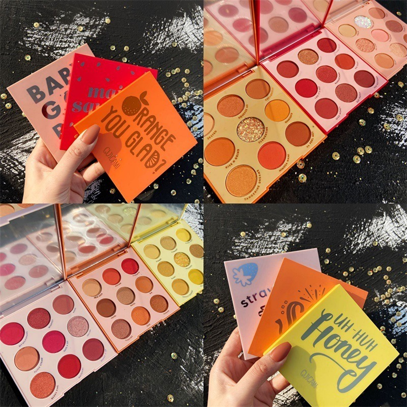 GUICAMI Fruit Nine Color Eyeshadow Palette Fruit Color Peach Lasting Not Easy To Fly Powder Fairy Disk Fairy Eyeshadow