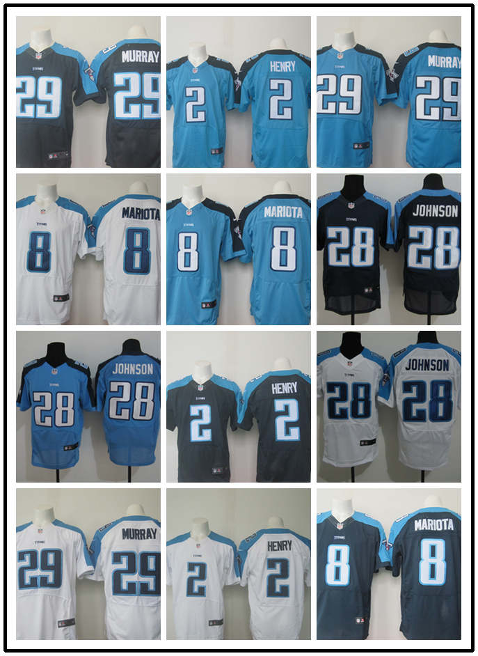 new arrivals ca6b6 f93d1 US $30.77 |Stitiched,Tennessee s Chris Johnson DeMarco Murray Derrick Henry  Marcus Mariota Jersey-in America Football Jerseys from Sports & ...