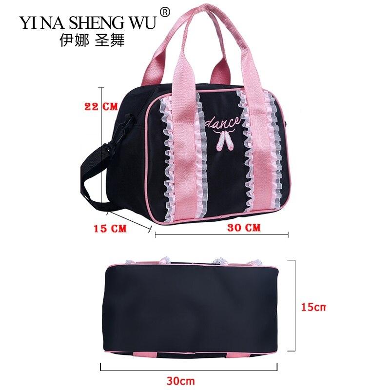 Pink Black Ballet Dance Bags Girls Toddler Ballet Dance Bag Ballerina Girls Cute Bag Lace And Pointe Shoe Embroidery Cute Bag 45