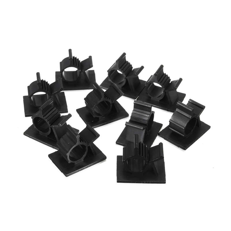 100Pcs/Lot Cable Cord Adhesive Fasteners Clips Organizer Clamp Mounting Range Wireless Wire Holder