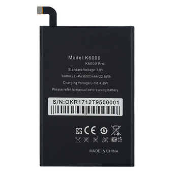 OHD Original High Capacity Battery K6000 Pro For Oukitel K6000 Real 6000mAh Replacement Battery image
