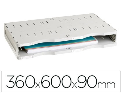 FILE MODULAR ARCHIVE 2000 ARCHIVE DOC STANDARD 1 BOX SIZE DIN A3 GREY 360X600X90 MM