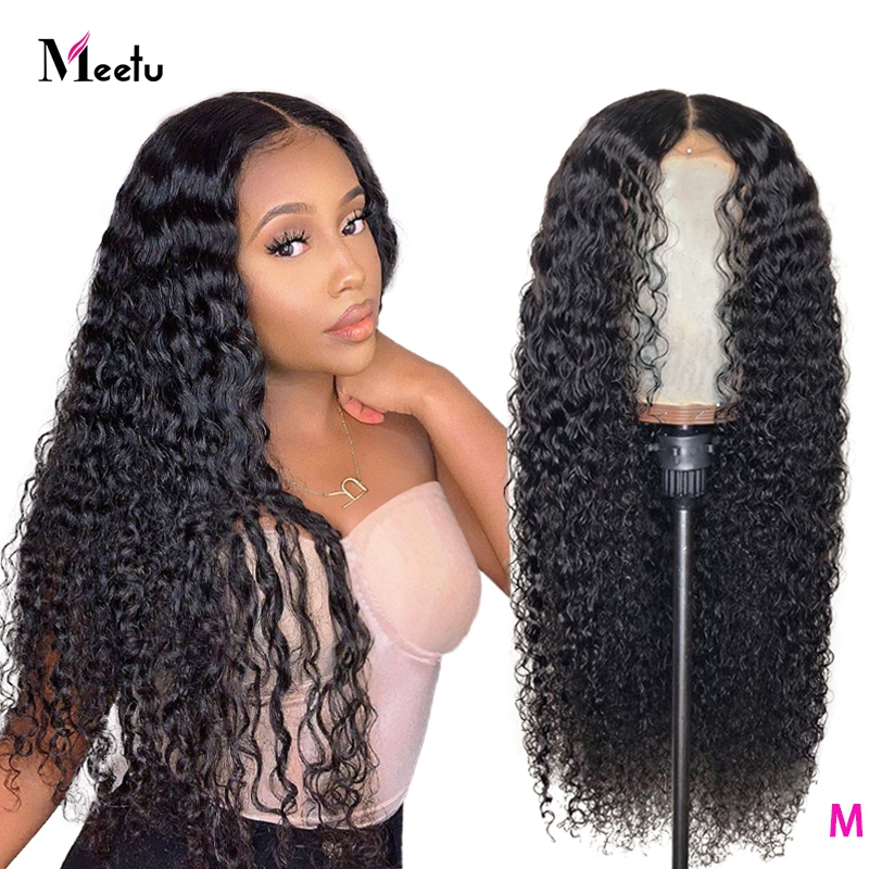 Kinky curly lace front wig 13x4 Lace Frontal Wig 150% Curly Human Hair Wig Brazilian Remy 4x4 Lace Closure Wig Pre Plucked