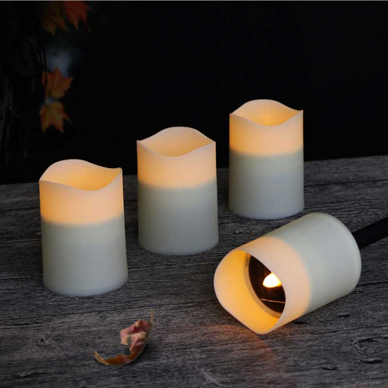 Pack of 3 or 6 Pieces Flameless Votive Solar Candles With Rechargeable Function,Battery Operated Tealights For outdoor Garden