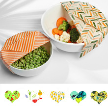 Zero Waste Reusable Food Wraps Sustainable Organic Beeswax Wrap Food Storage Eco Friendly Sandwich Bag bees wax Lid Cover wrap