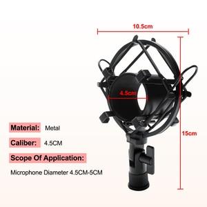 Image 5 - Mikrofon nożycowy stojak z ramieniem Bm800 uchwyt statyw stojak mikrofonowy F2 z pająkiem wspornik wspornikowy uniwersalny uchwyt amortyzujący