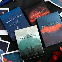 30 sztuk/pudło śliczne książki kwiat naklejki papiernicze krajobraz podróży naklejki DIY dekoracyjne naklejki klej pamiętnik szkolne lomo
