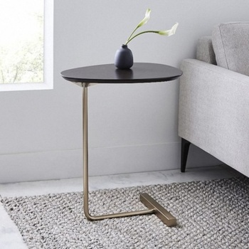 JOYLIVE Simple Modern Side Table Iron Art Sofa Corner Table Lazy Bedside Reading Oval Coffee Table Tea Solid Wood Counter Top simple modern sofa side corner several moving bedside table american style solid wood living room small round coffee table