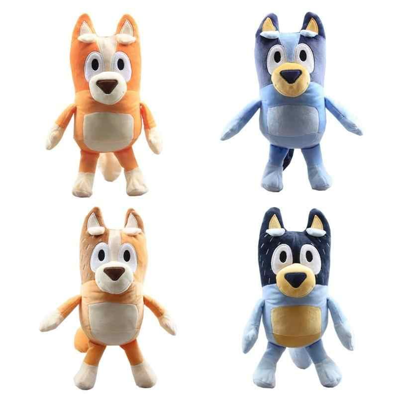 Bonito y suave juguete de peluche Bluey Bingo de 28CM de dibujos animados de Bluey familia papá mamá muñecos de peluche de juguete para niños y niñas mejores regalos de Navidad de cumpleaños